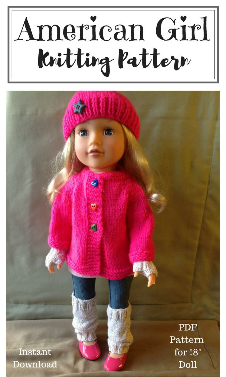 Dolls Fashion Clothes Knitting pattern. 18\