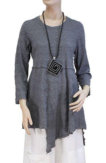 DIFERA Beautiful Uneven Hem A Line Lagenlook Tunic s Stock Item Silver   eBay