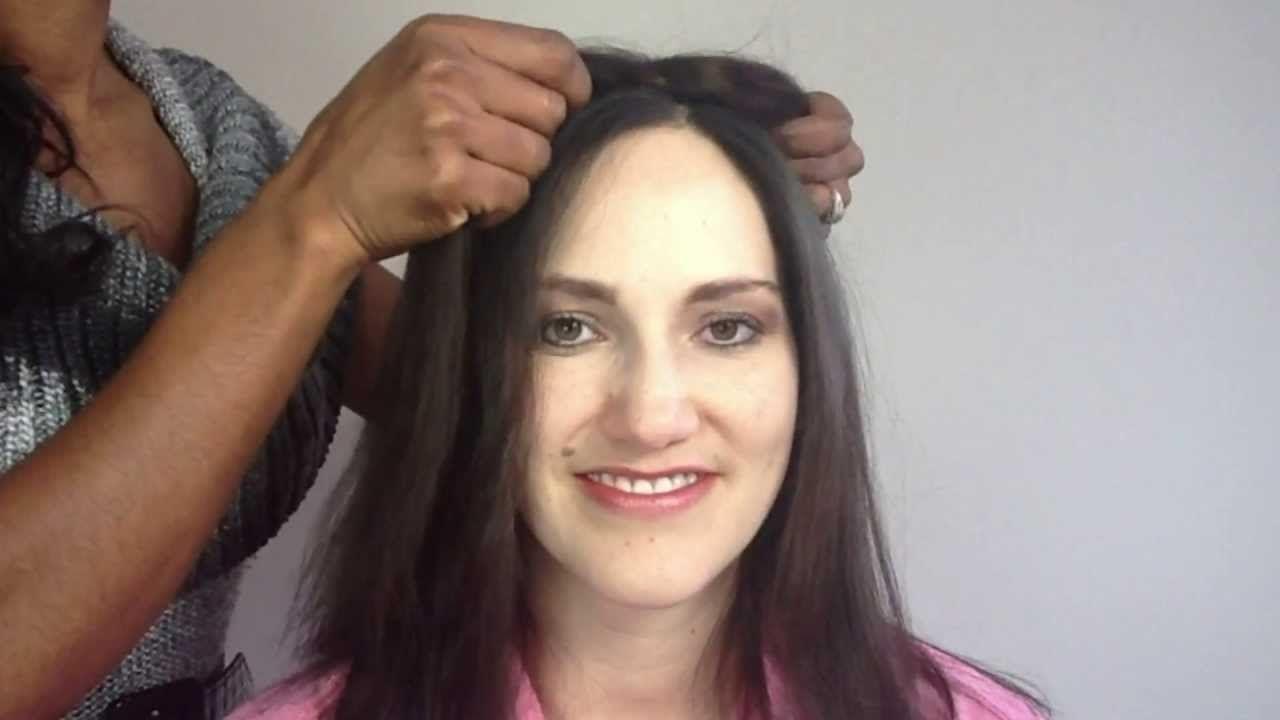 How To Apply Enchantop Hair Topper Benefit Hair Pinterest Hair