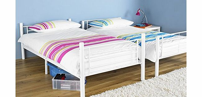 Hyder Living Seattle Bunk Bed Splits Into Two Single Beds White No
