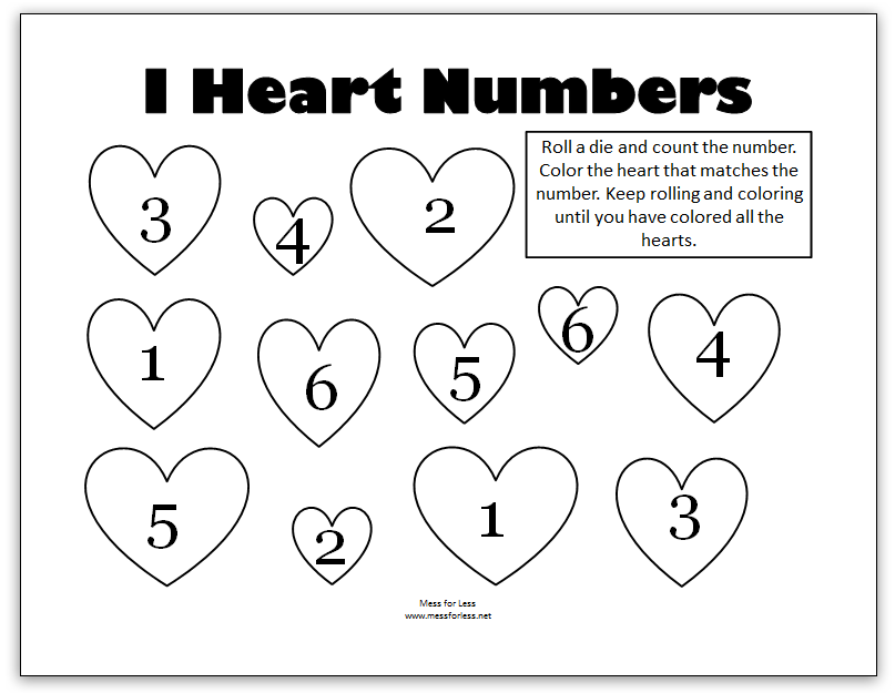 Valentine S Math Kindergarten Worksheets Mess For Less Valentine Math Worksheet Valentine Worksheets Math Valentines