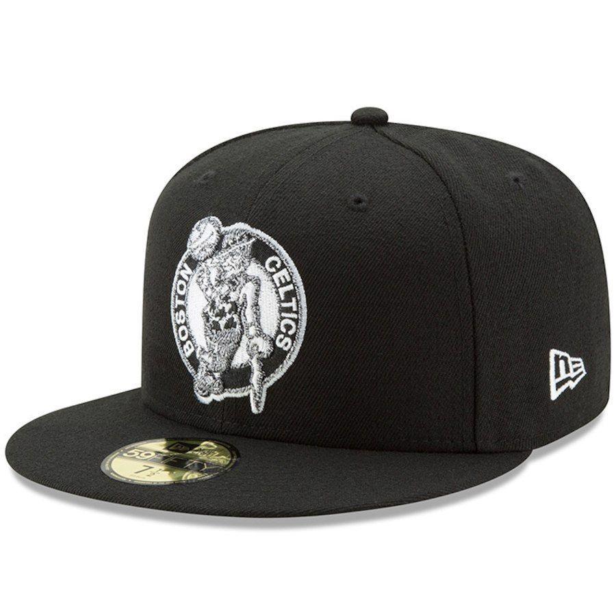 competitive price dce64 cbd9f Men s Boston Celtics New Era Black Black   White Logo 59FIFTY Fitted Hat,  Your Price   34.99