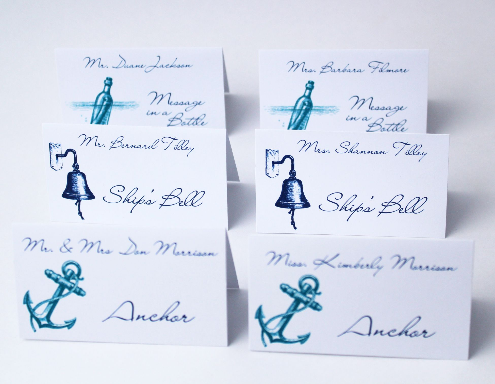 Beach Theme Wedding Place Cards Tip If you re going to give your