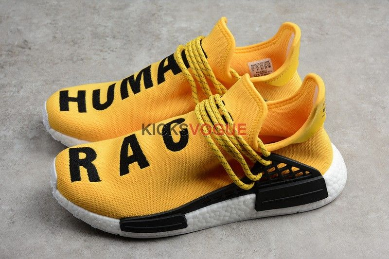 more photos best deals on closer at Pharrell x NMD Human Race Yellow Black BB0619 | Human race shoes ...