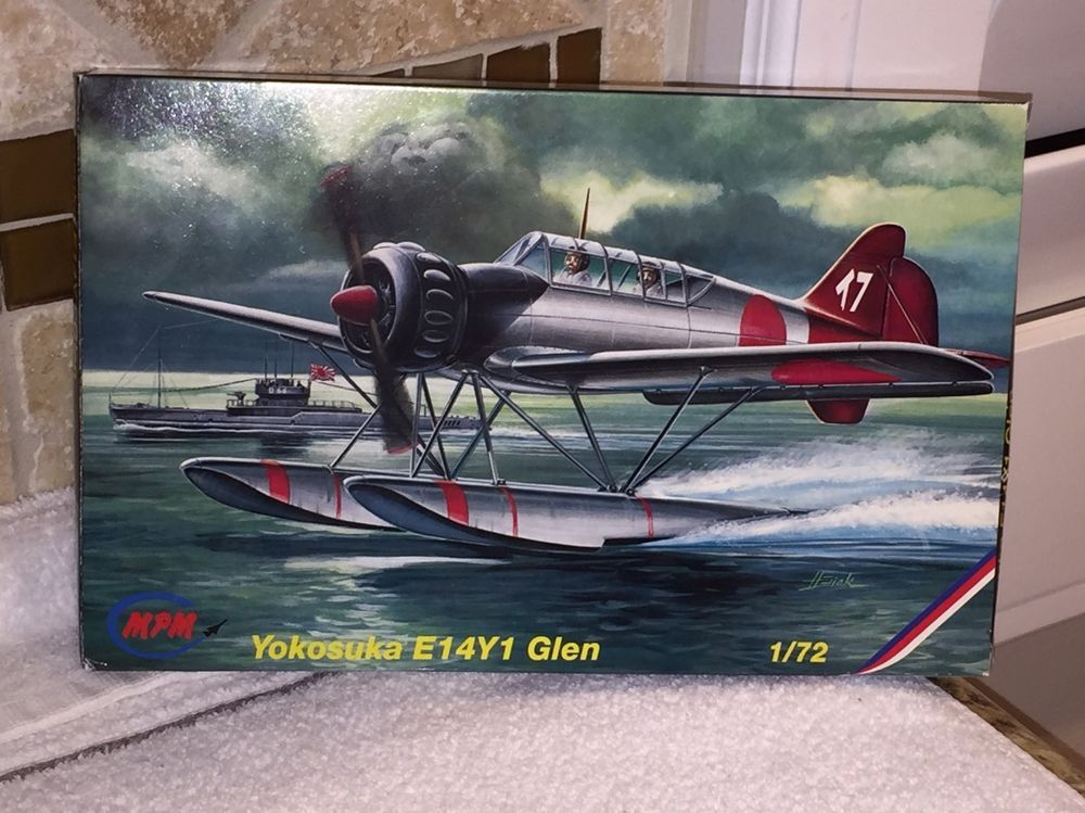 MPM YOKOSUKA E14Y1 GLEN FLOATPLANE No 72111 1\/72 SCALE- SEALED - how would you weigh a plane without scales