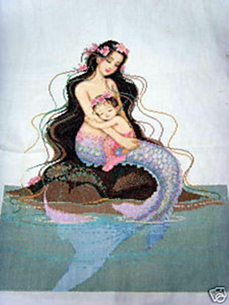 Mom and Baby Mermaid Postcard