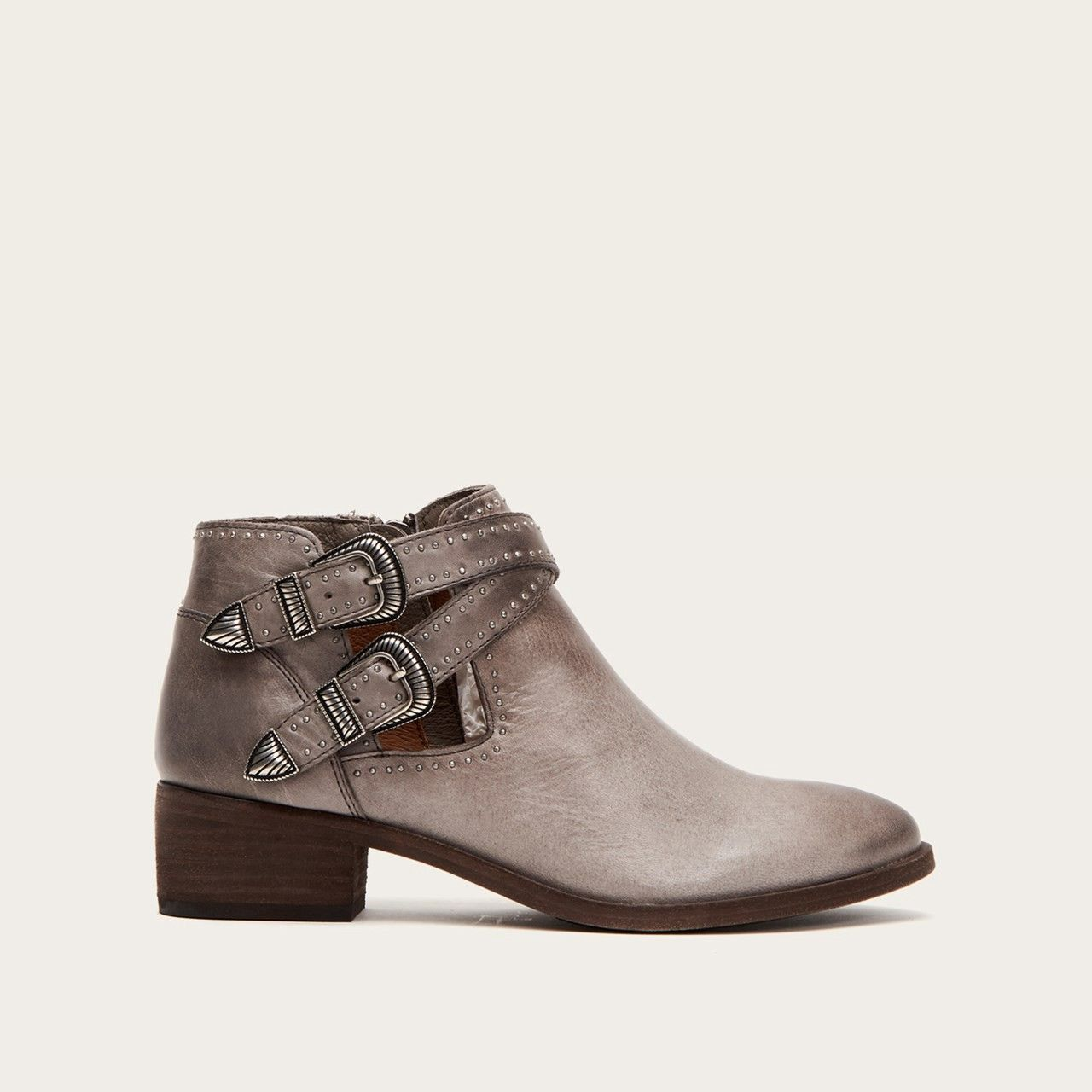 c57f2ceb1d1 Frye Ray Deco Western Shootie - Grey 5.5 Silver | Products | Boots ...