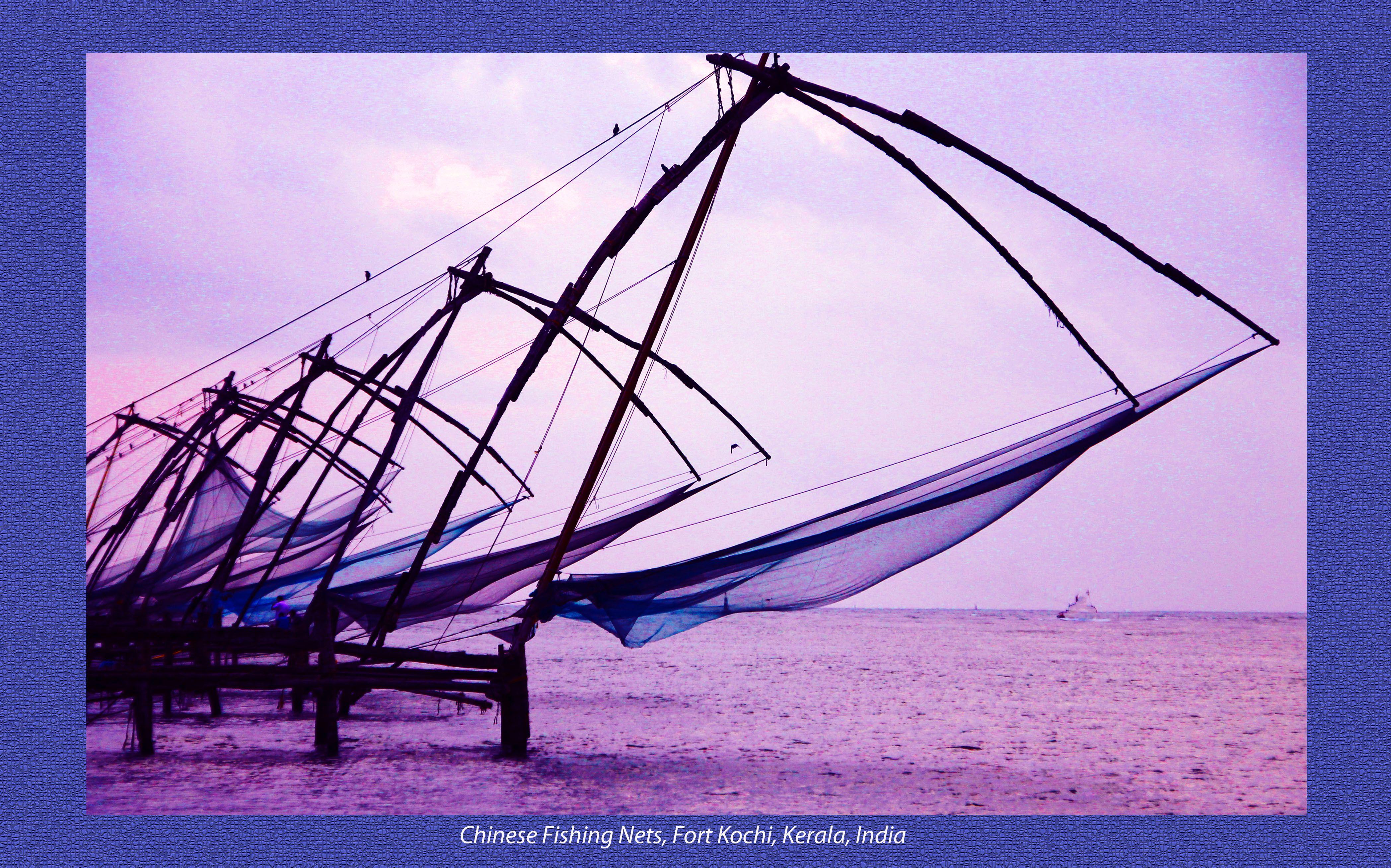 Chinese Fishing Nets Fort Kochi, Kerela, India Kochi