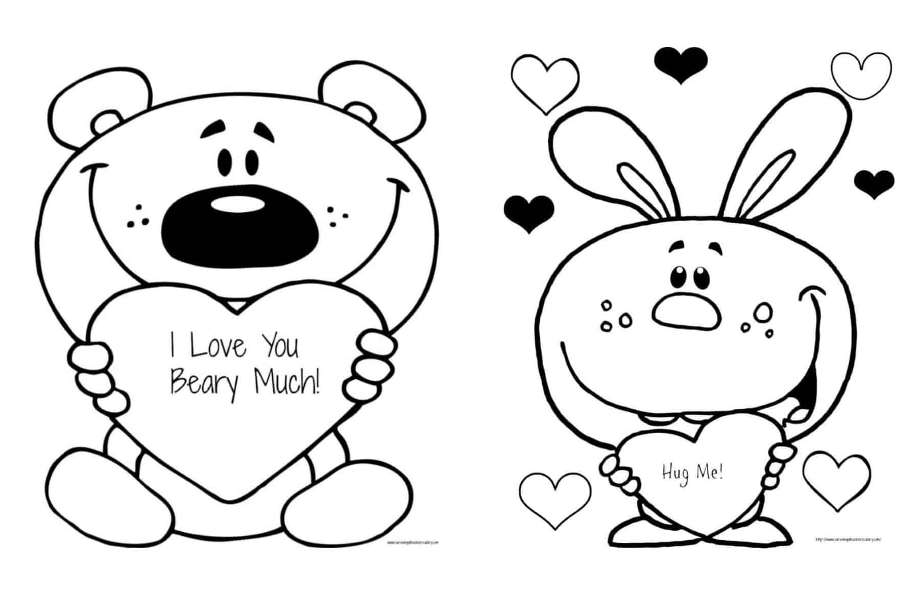 Free Valentine S I Love You Beary Much Coloring Page Printable In 2021 Love Coloring Pages Love You Cute Mom Coloring Pages