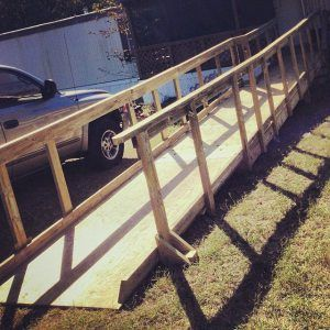 Texas Ramps Project build ramps for those in need. You can volunteer your time, show up and they will teach you what to do. This is a great ...