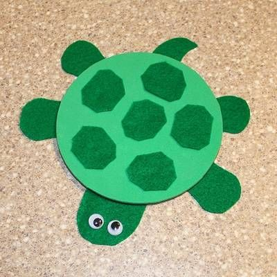 CD turned into a turtle u003d fun! & Craft Idea: Turn CDs into Cute Animals | Turtle crafts Turtle and Craft