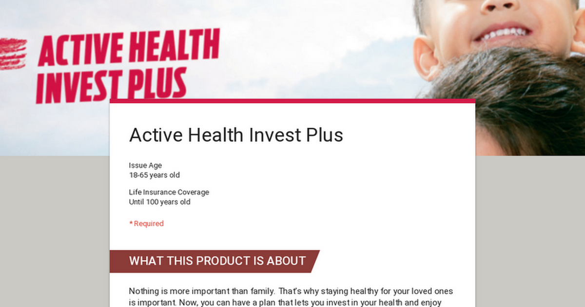 Active Health Invest Plus How To Stay Healthy 65 Years Old Life