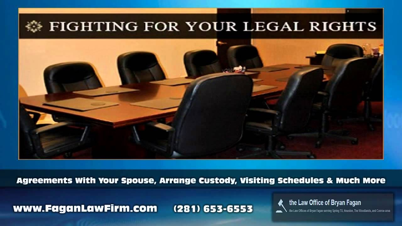 Attorney Bryan Fagan is an experienced Family Lawyer in Houston handling cases including Divorce, Custody, Child Support, Paternity, Name Changes, Adoption, Gestational Agreements, and more. Call for a free and confidential consultation. Law Office of Bryan Fagan, 17101 Kuykendahl Road, Houston, TX, 77068 281-810-9760 www.bryanfagan.com