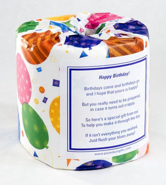 Personalized Birthday Toilet Paper Card