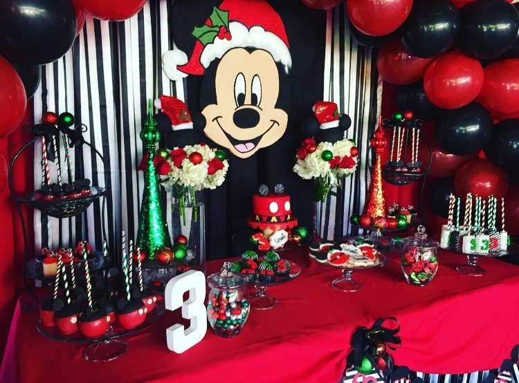 Christmas Birthday Party Ideas For Toddlers.Mickey Mouse Christmas Birthday Boy Birthday Party Ideas