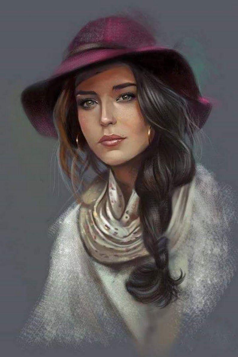 Фотография | Рисунки женщин, Винтаж девушки, Портрет женщины