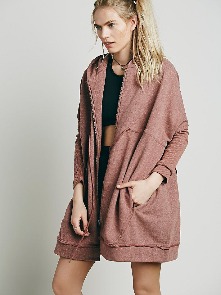Free People Oversized Zip Hoodie at Free People Clothing Boutique ...