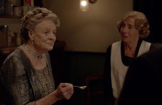 Violet tastes Denker's awful soup