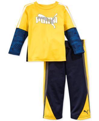 Puma Baby Boys' 2-Piece Shirt & Pants Set