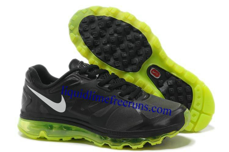 new concept 95e6d 11ce9 Mens Nike Air Max 2012 Black Volt Metallic Silver Shoes
