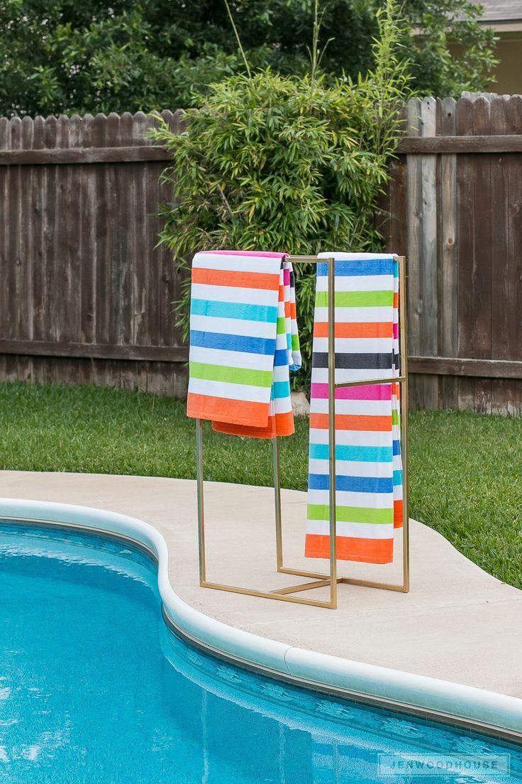 Poolside Towel Rack Diy Pool Towels Projects