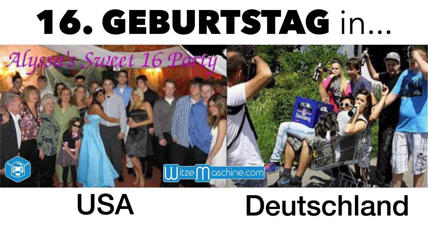 16 Geburtstag In Usa Und Deutschland Sweet Sixteen Funnyfact