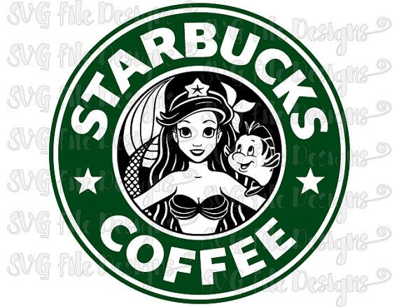 Little Mermaid Ariel Disney Princess Starbucks Coffee Logo Cutting File Clipart In Svg Eps Dxf Png And Jpeg For Cricut Silhouette