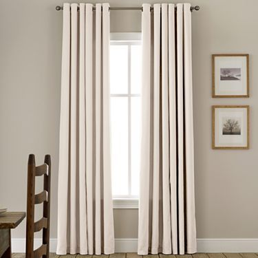 Home™ Jenner Cotton Grommet-Top Thermal Curtain Panel Transitional