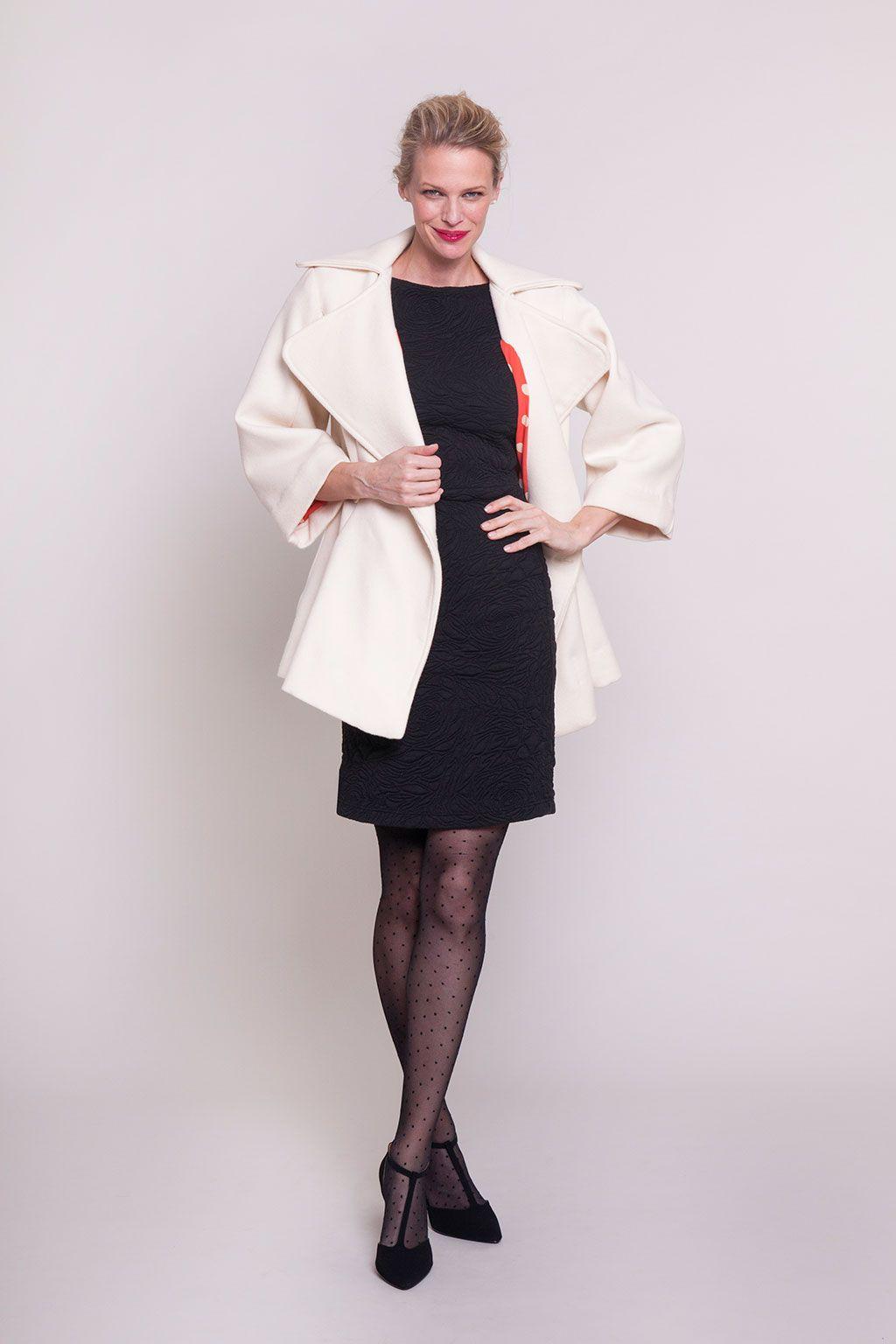 Seamwork Ida dress + Colette Lady Gray coat.   Colette Patterns ...