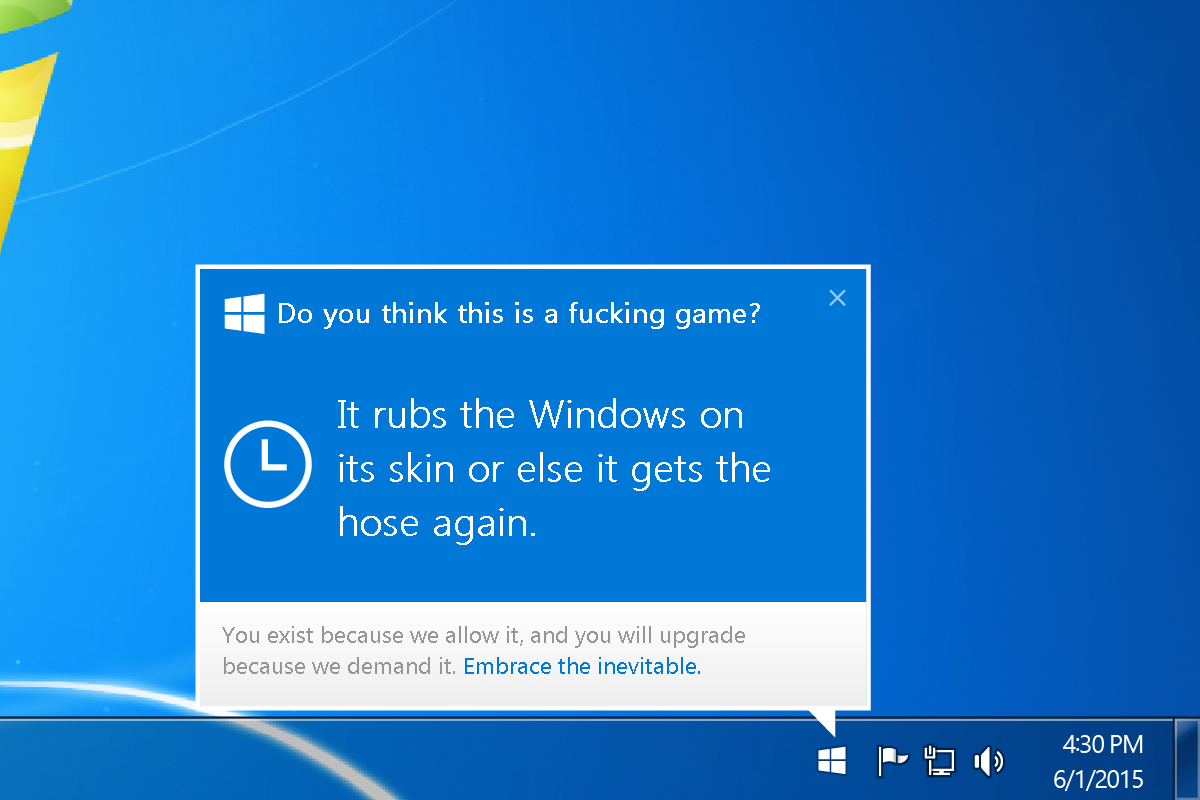 You Will Update This Isn T A Matter Of Choice Windows 10 Upgrade To Windows 10 Windows