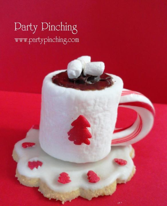 Christmas Tea Party Ideas Part - 34: Christmas Tea Party...marshmallow, Piece Of Candy Cane For Handle.