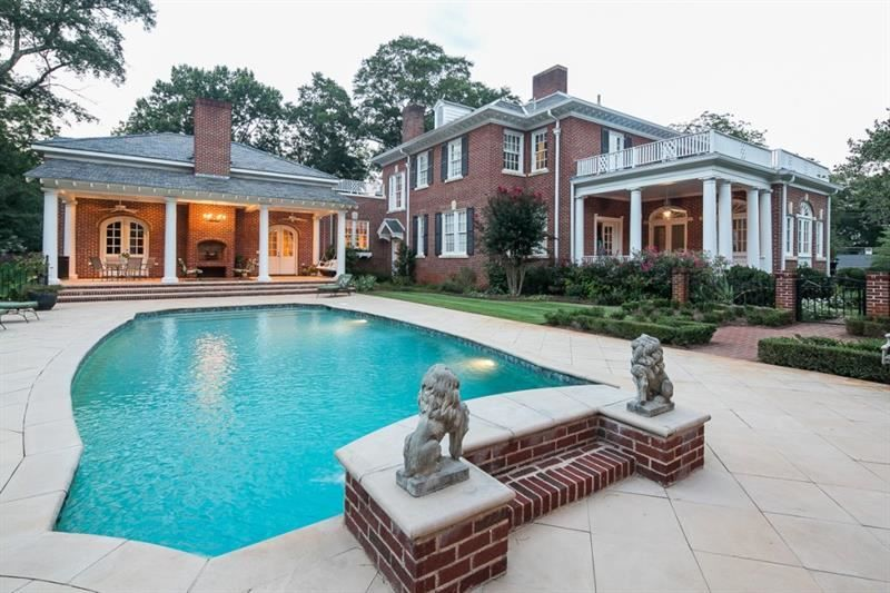 Historic Estate on 4.9 acres complete with modern high