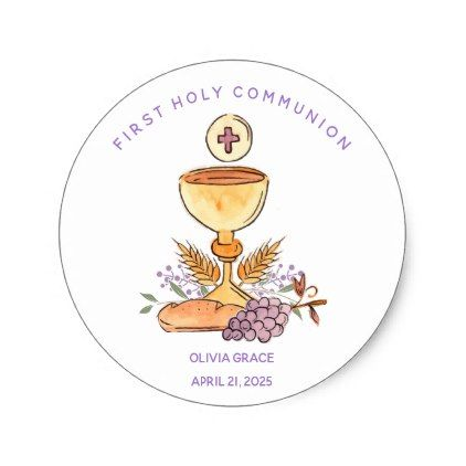 First Communion Symbols Sticker Communion And Symbols