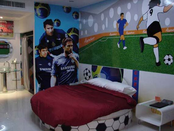 Soccer Bedrooms Interior Decorating Ideas