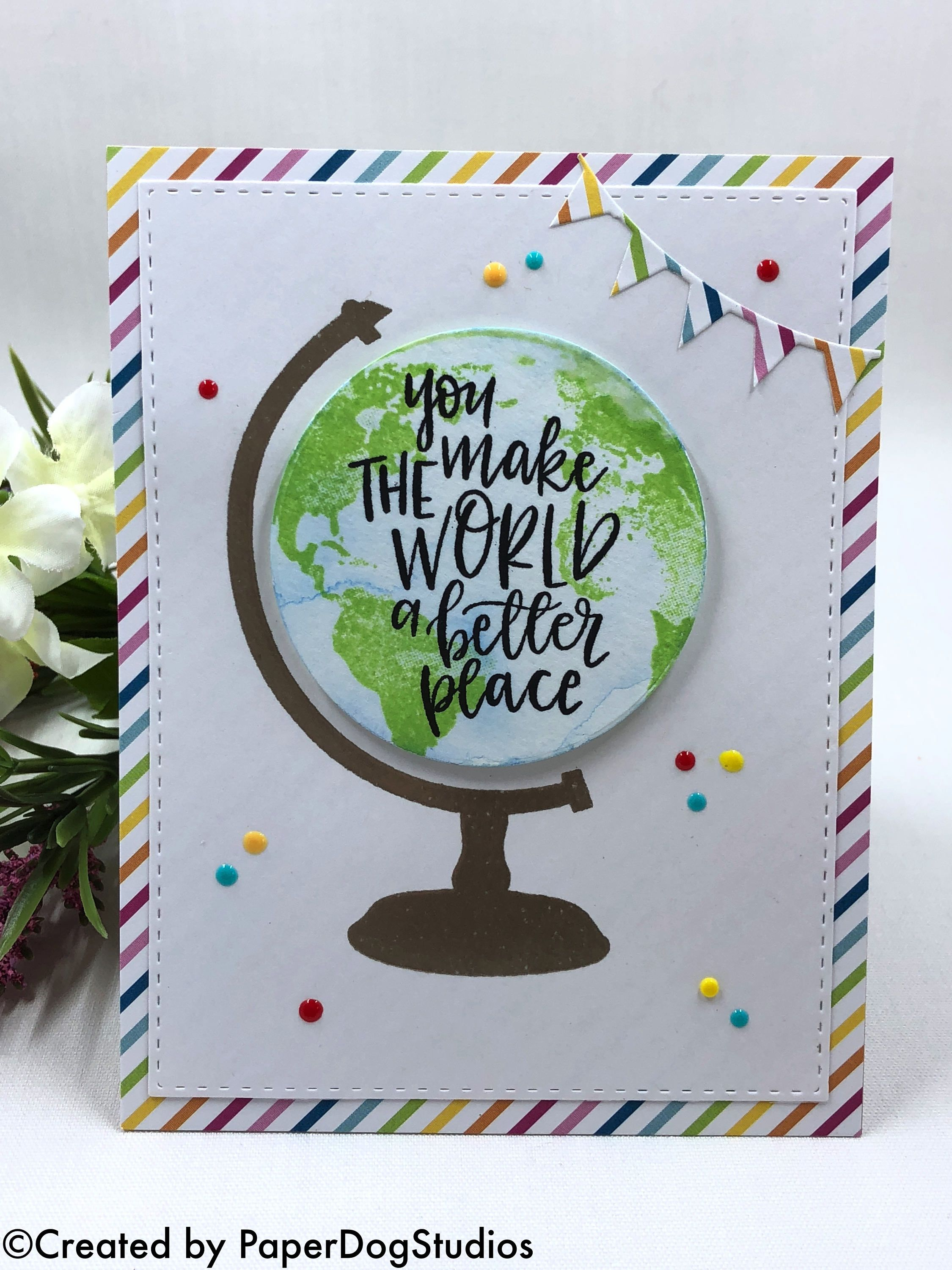 Earth Globe Greeting Card Card Sketches Templates Cards Card Making