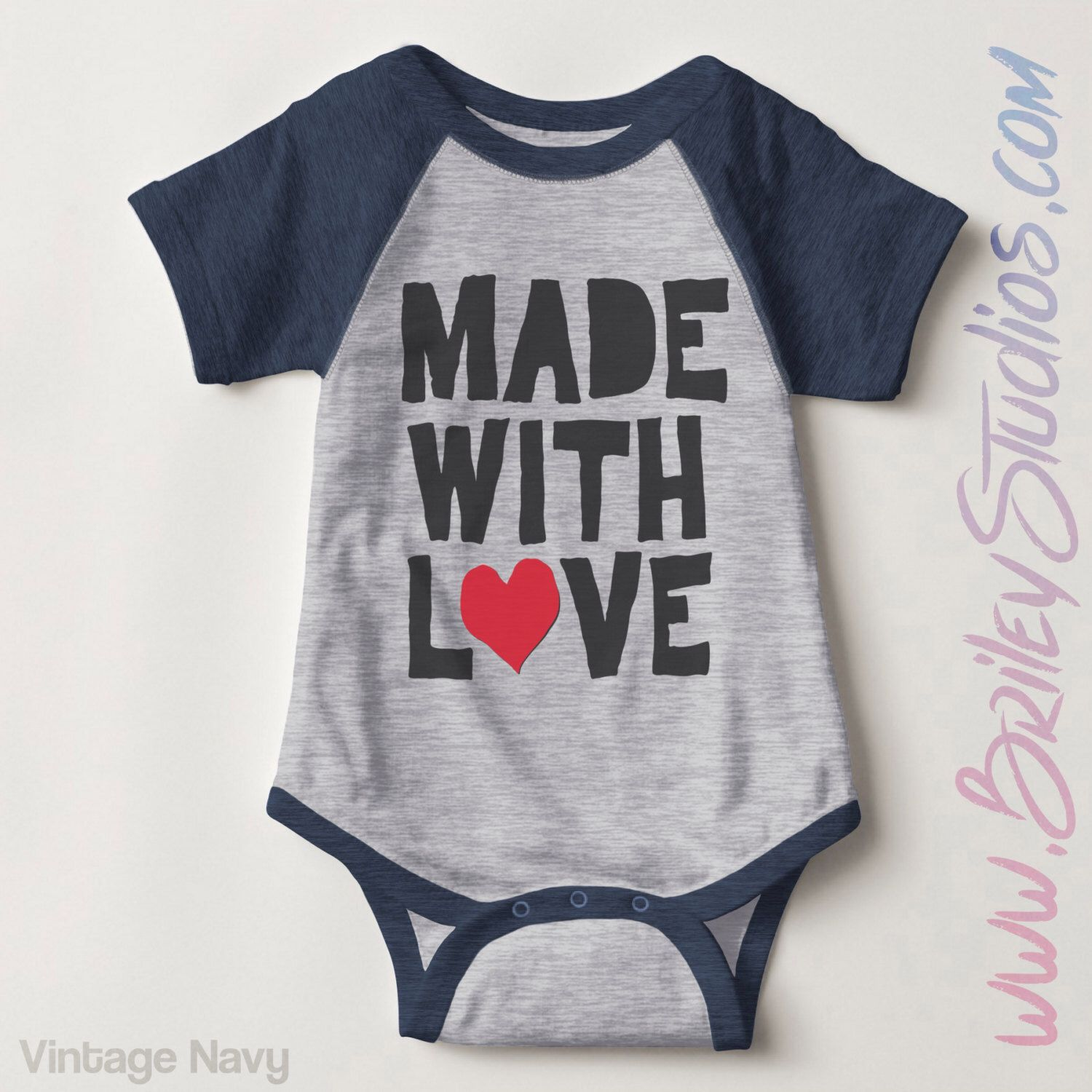 Made With Love Infant Baseball Newborn Baby Outfit Gender Neutral