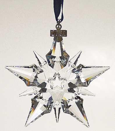 Swarovski 2001 Annual Christmas Snowflake Ornament Z  Christmas