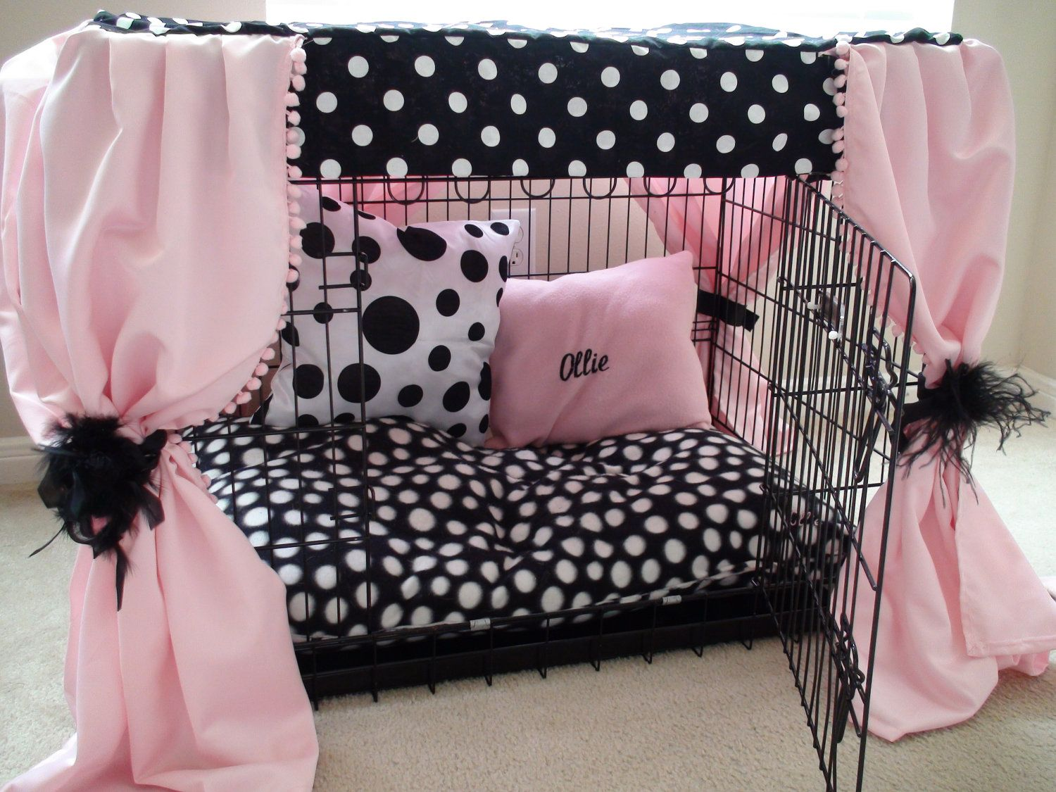 Dog Crate Cover Ensemble (5 pieces) Custom Embroidery is