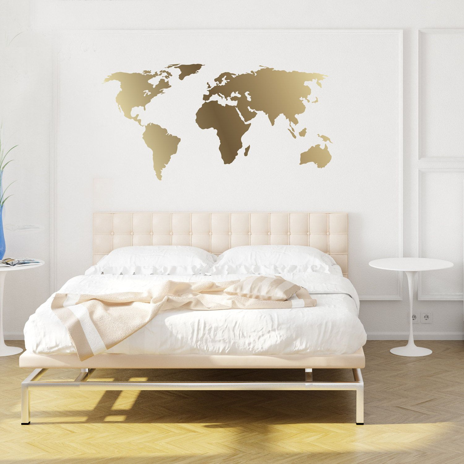 World map decal gold kiss cut world decal by chromantics by world map decal gold kiss cut world decal by chromantics by chromantics on etsy mirror decalwall gumiabroncs Images