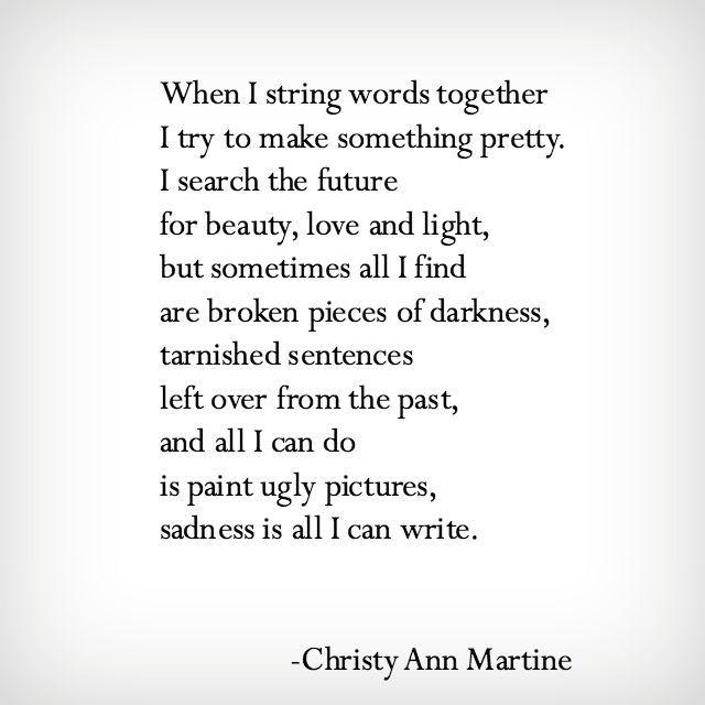 Broken Pieces of Darkness poem by Christy Ann Martine - Dark