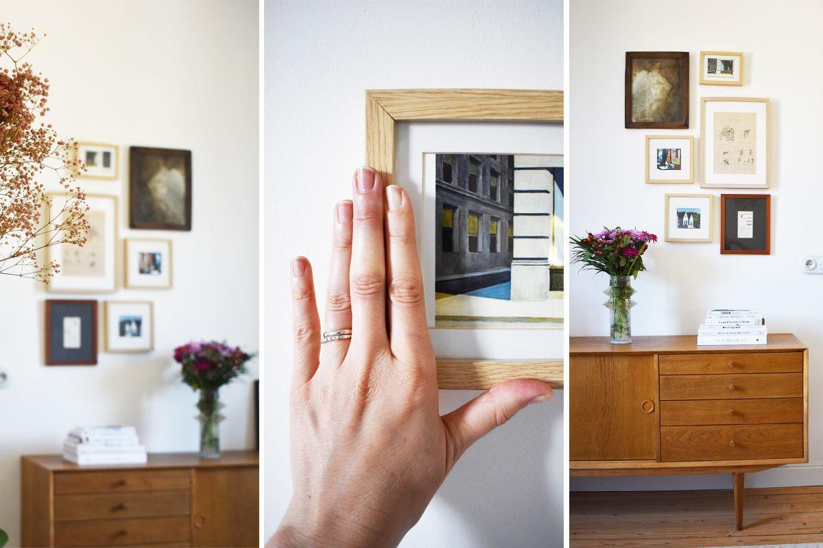Attache Tableau Sans Percer diy : créer une galerie de cadres sans percer les murs
