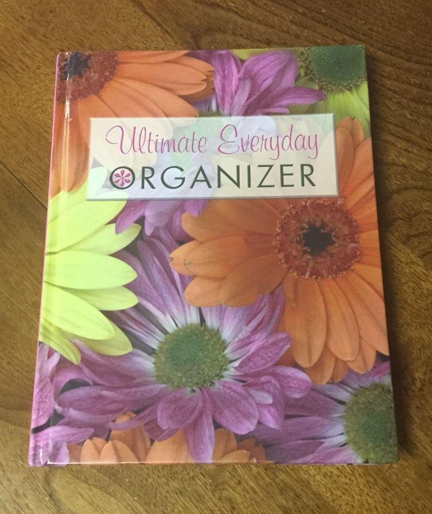 Ultimate Everyday Organizer HC Address Book Floral Flowers