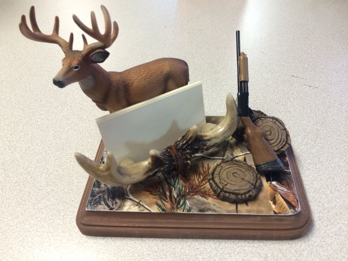 Hunters business card holder