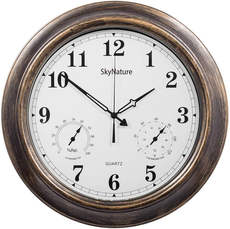 Skynature Outdoor Clocks By Skynature In 2020 Large Outdoor Wall Clock Outdoor Wall Clocks Outdoor Clock