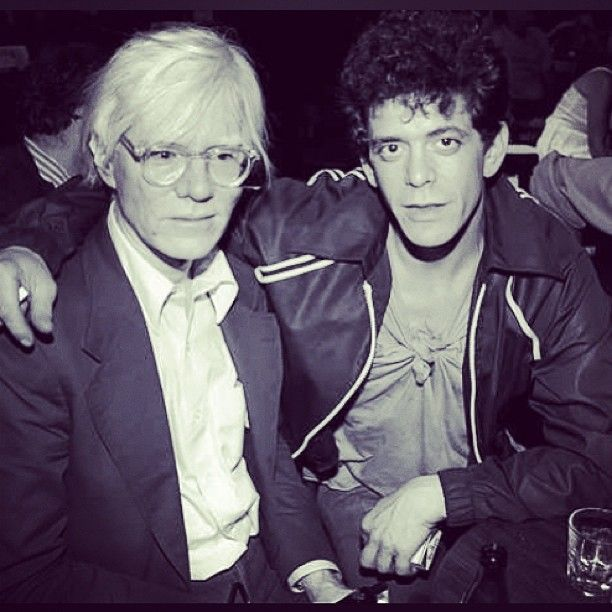 #AndyWarhol and #LouReed of the #VelvetUnderground in the #ExplodingPlasticInevitable Folmed live by #RonaldNameth
