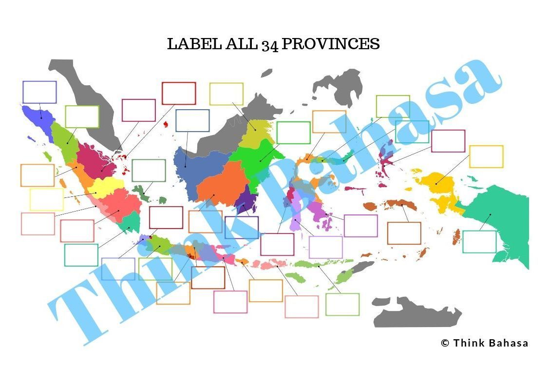 Map Of Indonesia Teaching Pack Posters Amp Worksheets