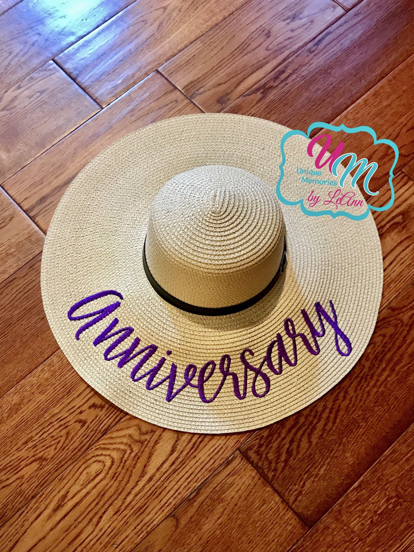 Anniversary floppy Beach Hat f517cda61ceb