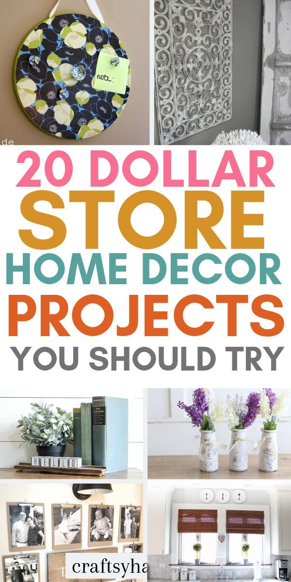 20 Dollar Store Home Décor Projects - Craftsy Hacks