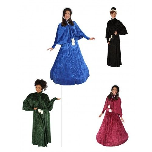 Dickens lady costume new colors dickens victorian you can transport yourself into the dickens christmas of times past with this luxurious velvet adult holiday dickens caroling costume solutioingenieria Gallery