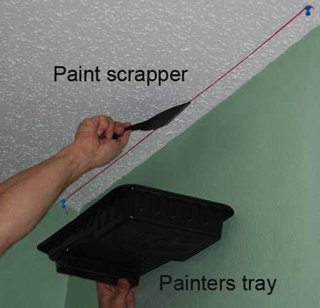 how to put crown molding on popcorn ceiling